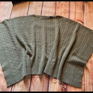 Ralph Lauren Cable Knit Poncho